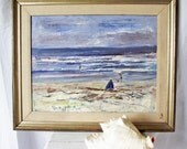 Original Vintage Painting - Seascape - Richard Lee Barton - 1980s Collectible Art - Layered Impressionist Painting