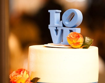 custom love wedding cake topper made to order