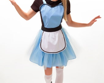 ALICE in WONDERLAND  apron, Alice tutu dress up apron, Apron, sexy apron, Alice tutu apron, bridal shower gift aprons