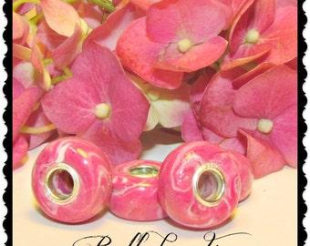 Keepsake Beads, Flower Petal Jewelry, Memorial Beads, Funeral Flowers, Large Hole Charm Bead, Flat