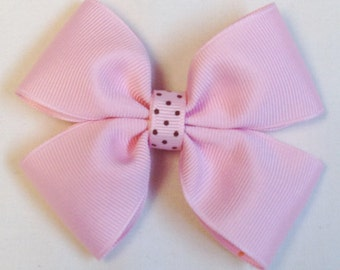 Girls Pink Hair Bow Pink Hair Bow Solid Colored Bow Barrettes And Clips Girls Hair Bows