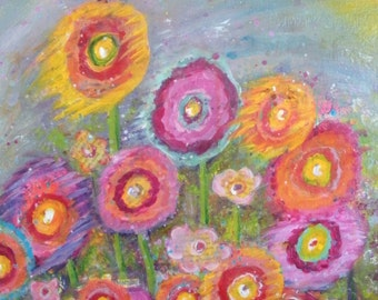 Garden of Joy 8 x 10 print from original acrylic painting