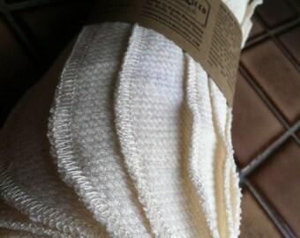 Organic Unbleached Cotton Birdseye Unpaper Towels -Half a Dozen 8″x10″