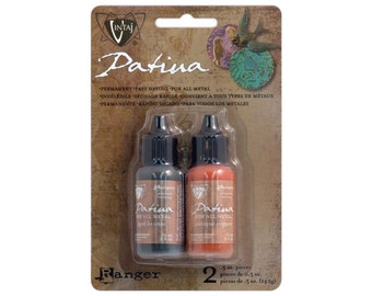 ANCIENT COIN Vintaj Patina Paint Set - Aged Bronze Antique Copper Metallic Patina For All Metals by Ranger Ink - Metal Paint