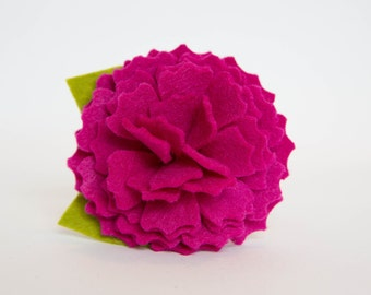 Dog Collar Flower - Fuchsia Pink Peony