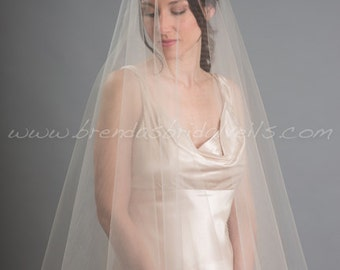 Bridal Drop Veil, Wedding Veil, Bridal Veil Double Layer - Jodi Veil