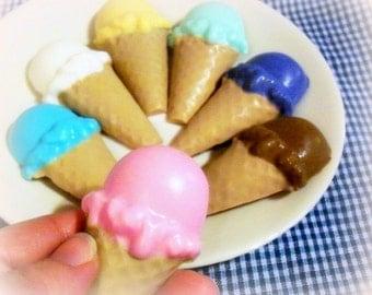 Children's Soap Ice Cream Party Favors - 5 custom party favors - kids birthday party favors - ice cream social party - summer birthday