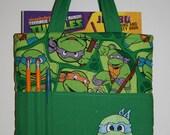 Crayon Tote Bag, Tote Bag, Crayon Holder, Teenage Mutant Ninja Turtles Crayon Bag, Ready to Ship