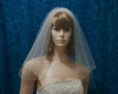 short  two tier circle cut bridal veil