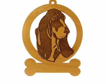 Basset Hound (Head) Ornament 081493 Personalized With Your Dog's Name
