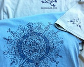 Tune into Your Uniquency tshirt and booklet Original art hand printed silkscreened tshirt with self published inspirational booklet