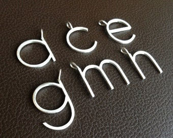 Big Silver Letters New Letter Pendant  Etsy Inspiration