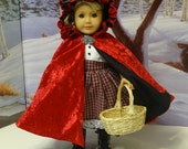 Red Ridin' Hood - Lolita style dress and cloak for American Girl