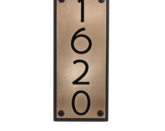 """Craftsman, Bungalow, Arts and Crafts 4 House Numbers 6.5w x 23""""h, Made in USA by Atlas Signs and Plaques"""