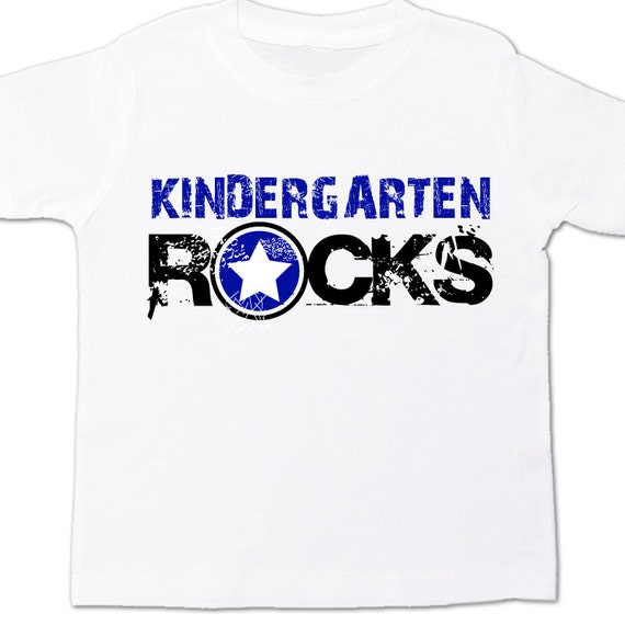 Back to school shirt - kindergarten or any grade rocks back to school Tshirt