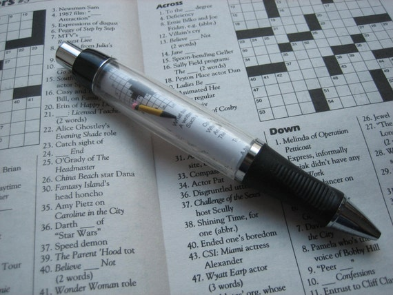 Fun crossword puzzle pen