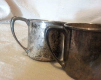 Silverplate Baby Cup Etsy