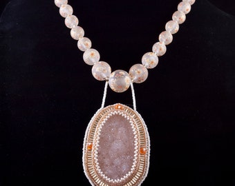 Gilded Druzy Necklace