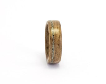 Size 7, Wooden Wedding Band, Wooden Ring, Walnut Wood Ring, Men's Wooden Ring, Concrete Ring, Man's Wedding Ring, Bentwood Ring, Wooden Band