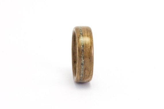 Wooden Wedding Band, Wooden Ring, Walnut Wood Ring, Men's Wooden Ring, Concrete Ring, Man's Wedding Ring, Bentwood Ring, Wooden Band