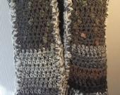 Handmade Crochet Scarf, Chunky Scarf, Gray Scarf, Warm Scarf, Long Scarf, Great Gift Idea