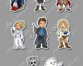 Doctor Who Hand Cut Magnet