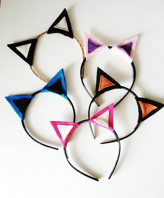 Birthday Party Cat Ears: Cat Ears Headband Pack Photo Booth Props By SevenWhiteRabbits