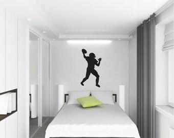 Football Player wall vinyl decal