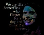 We Are Like Butterflies - Carl Sagan Quote - Quotable Universe Digital Download