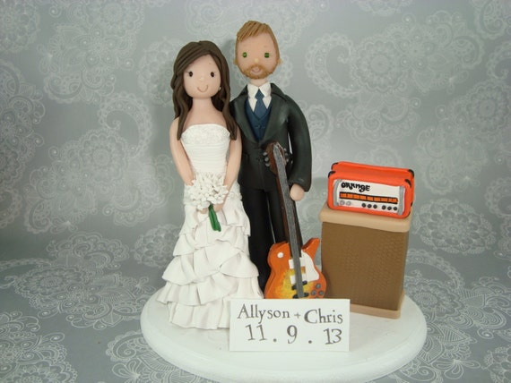 guitar player wedding cake topper customized amp groom guitar player wedding cake by 15015