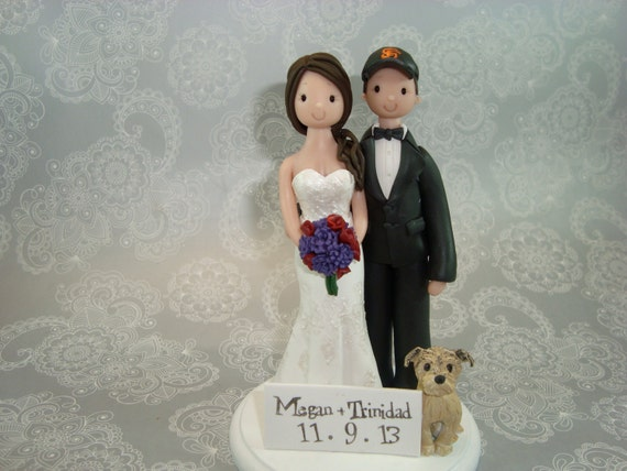 Bride & Groom Personalized Wedding Cake Topper - reserved for megannklein