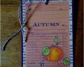 Autumn Pumpkin journaling tag