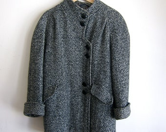 Gorgeous Grey Wool 80's Overcoat