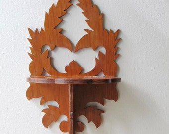 vintage gingerbread wall shelf nick nack shelf