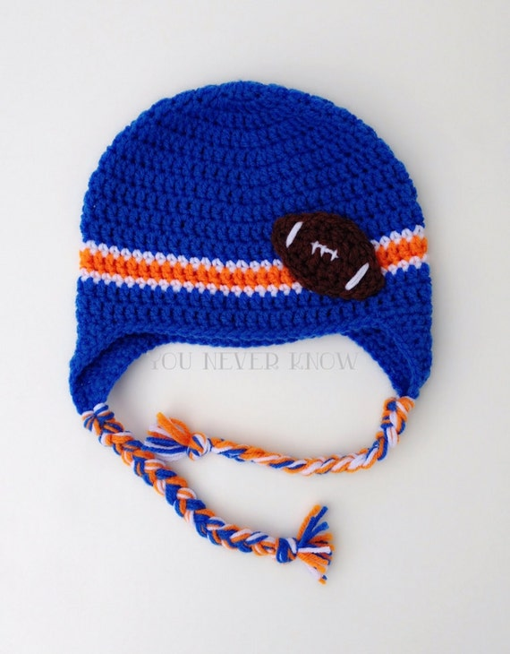 Soft Shells Baby Earflap Hat Crochet Pattern : Items similar to Crochet Football Team Earflap Hat ...