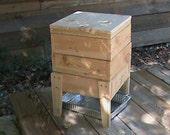 Wood Worm Bin - Cedar 3 Tray