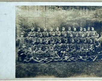 Early 1900s Antique Photograph of Soldiers.