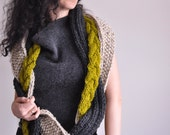 Infinity Scarf Circular Scarf Loop Scarf Wrap hand knit knitted chunky unisex cable texture braided - The Great Escape - CHOOSE your COLORS