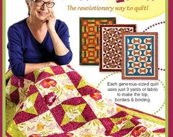 Quilt Patterns Quick'N Easy 3 Yard Quilts book. 8 great quilt patterns with 24 variations