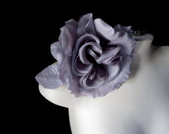 SALE Lavender Silk Flower in Shaded Lavender Fog for Bridal, Sashes, Hats, Corsages