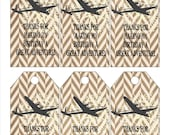 Airplane Adventure Favor Tags or Stickers PRINT & SHIP