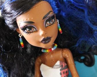 Candy Bits Rainbow Doll Jewelry Set for Petite Slimline High Dolls