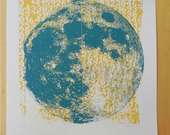 Moon Pi Silkscreen Print