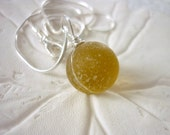 Sea Glass Marble Necklace Golden Beach Seaglass Pendant