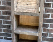 """YOUR  Reclaimed Recycled and Rustic Barn Wood 40"""" Tall Cabinet or Storage Shelf with Free Shipping"""