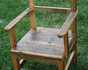 YOUR Custom Handmade Rustic and Reclaimed Barn wood Chairs with Arms and Free Shipping - CH250