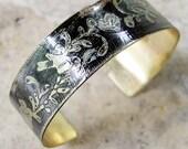 Etched Brass Cuff Birds