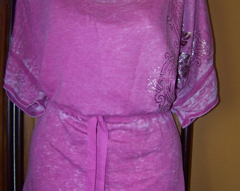 Faded Pink Plus Size 1X Tunic, Plus Size 1X Tunic, Women's XL Tunic, Plus Size Clothing, Women's Plus Size Clothes, Plus Size 1X, Long Shirt