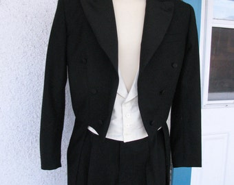 White Tie Tailcoat, Vest, and Pant---Custom Made, Muslin Fit