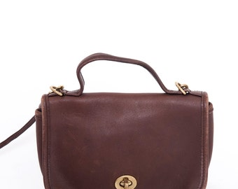 The Vintage Brown Coach Shoulder Purse